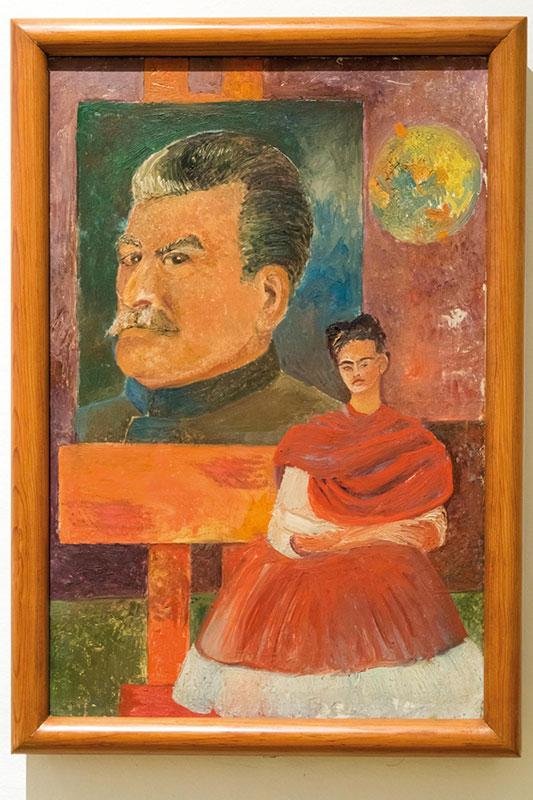 Poslednja slika Fride Kahlo: Autoportret sa Staljinom (1954), foto: NS