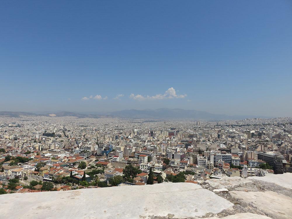 Pogled na Atinu sa Akropolja