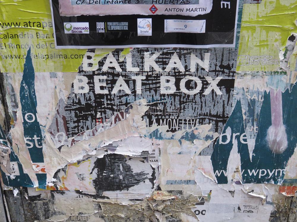 Ostatak plakata u Madridu: Balkan Beat Box