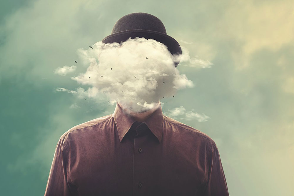 Glava u oblaku, Shutterstock