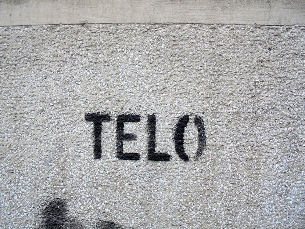 Telo, grafit na Dorćolu u Beogradu