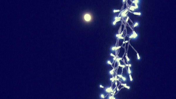 neonske lampice u noći