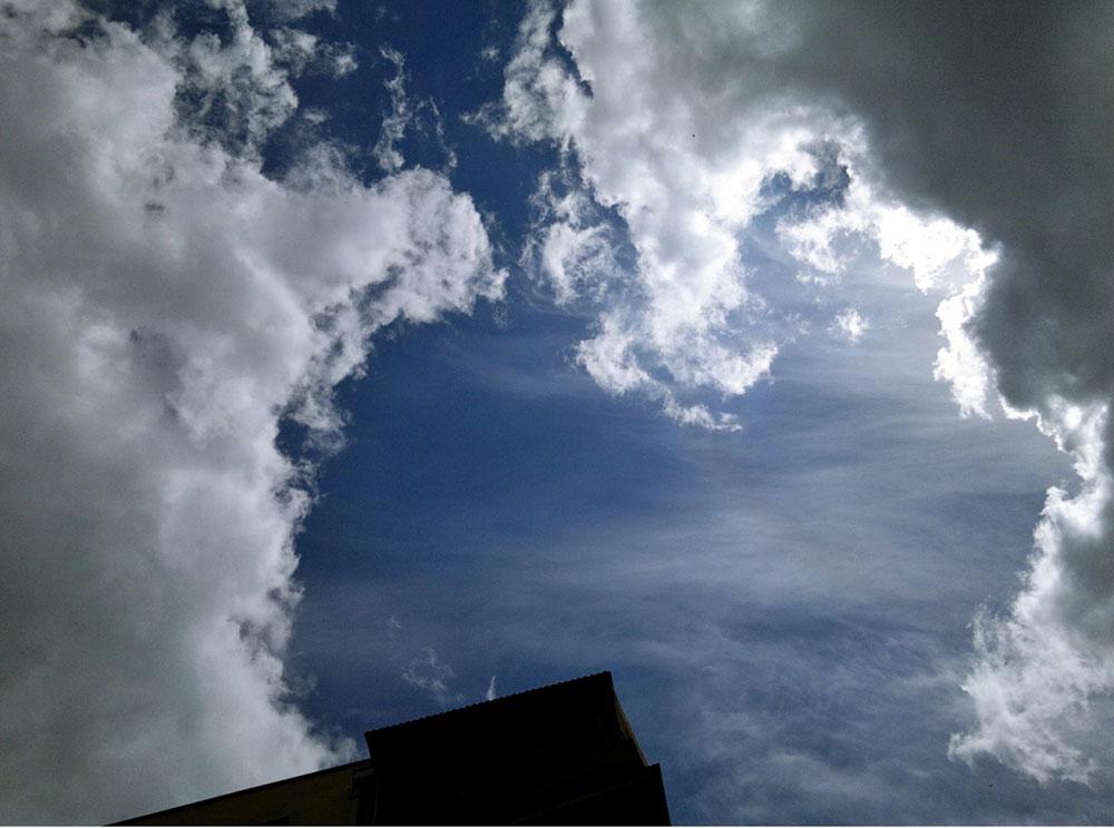 oblačno nebo