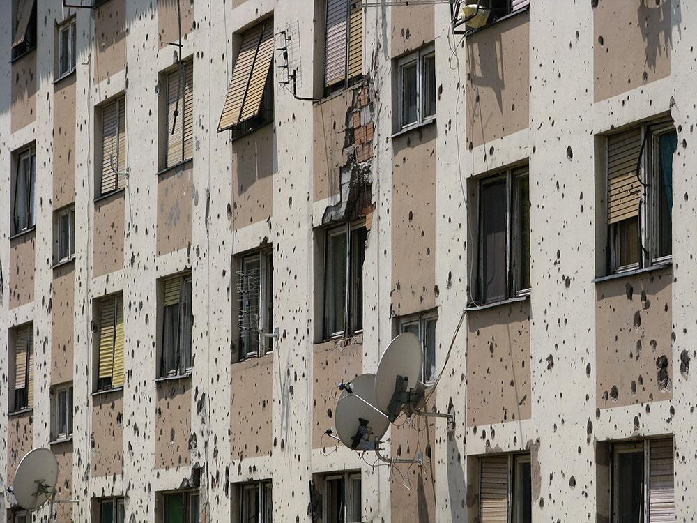 Fasada zgrade u Vukovaru