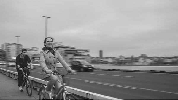 biciklisti na Brankovom mostu
