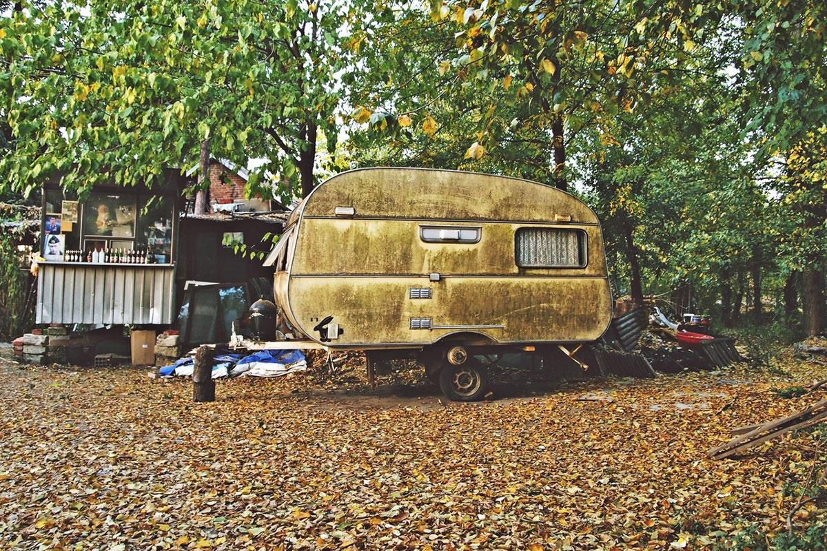 kamp kućica u šumi