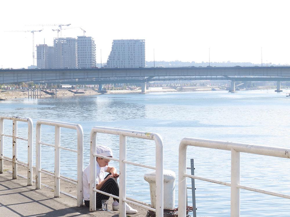 Beograd na vodi, pogled od Beton hale