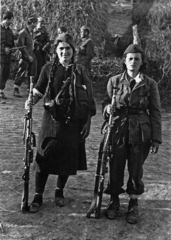 Žarkovo 1944, partizanke iz Prve proleterske brigade