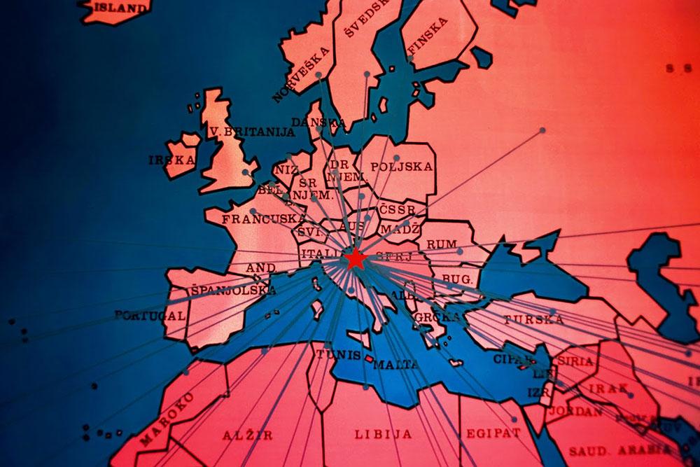 Karta širenja partizanskog pokreta, Brioni