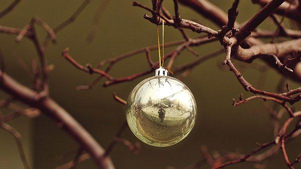 novogodišnji ukras na drvetu