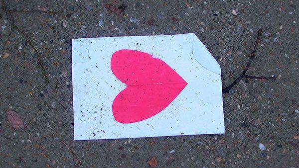 srce na ulici