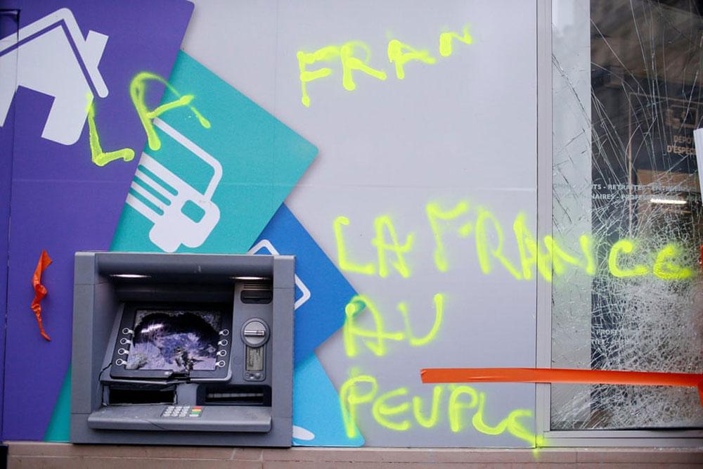 Francuska narodu, natpis na zidu
