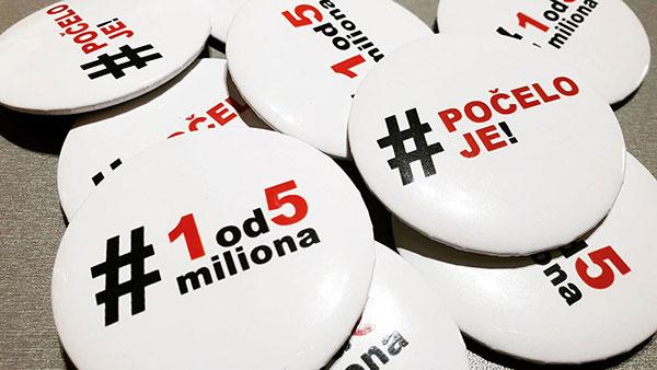 bedževi #1od5miliona