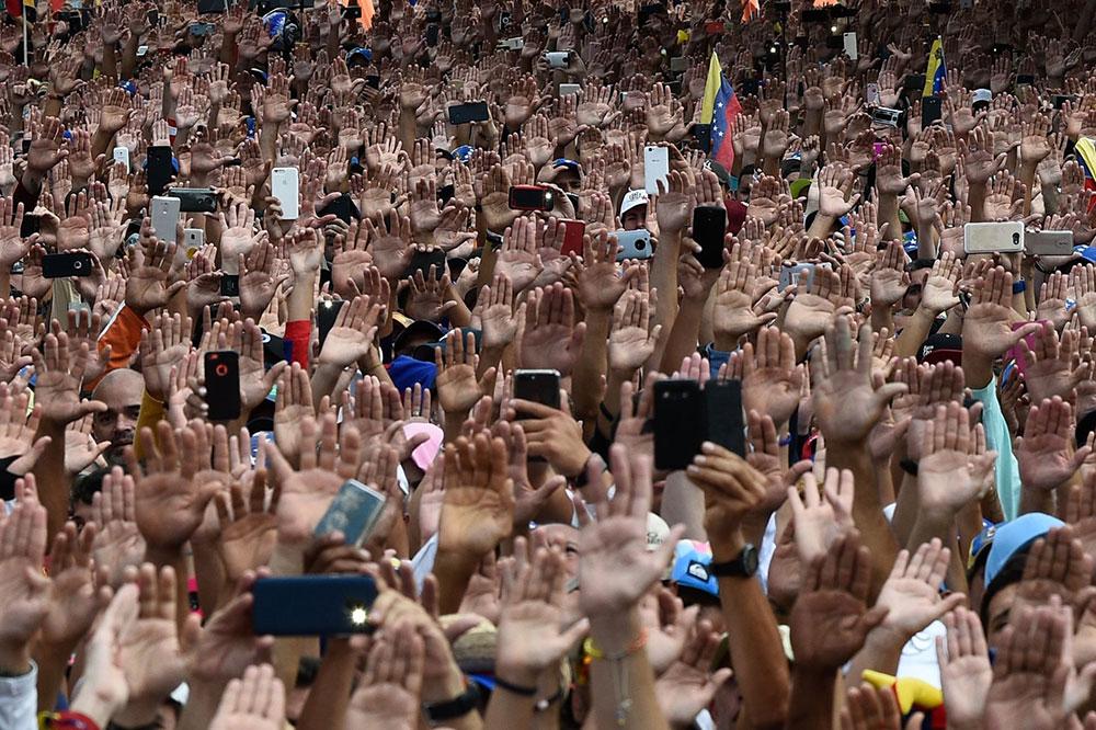 Protesti u Karakasu, januar 2019.