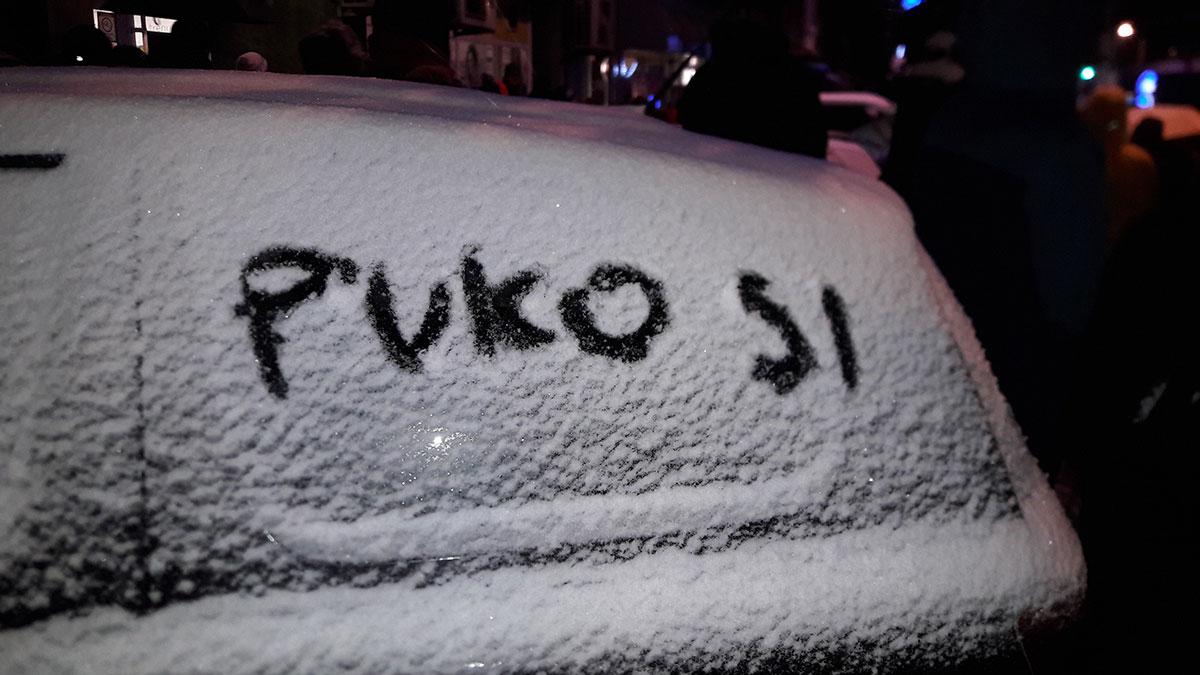 Sa protesta u Beogradu 5. januara 2019.