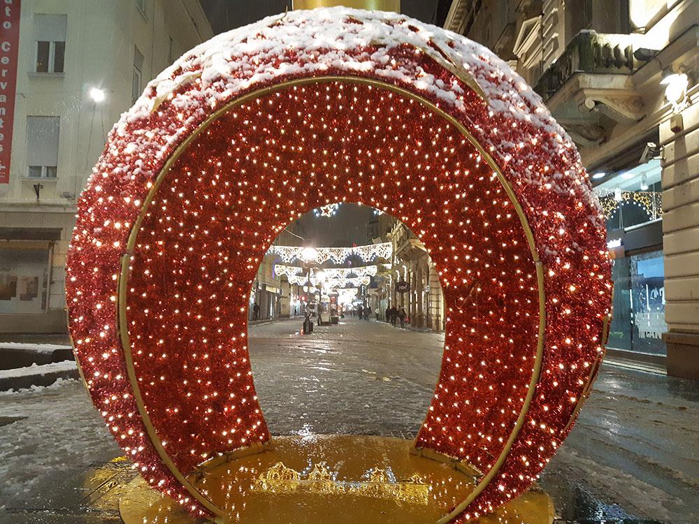 Novogodišnji ukras u Knez Mihajlovoj