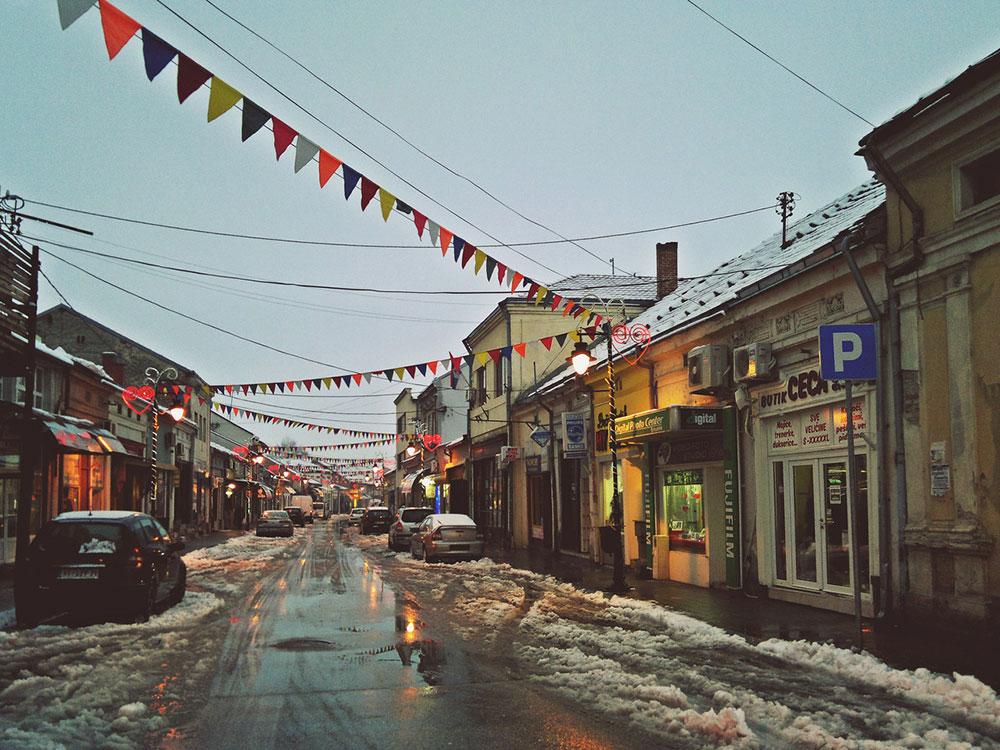 ulica pod snegom