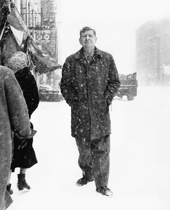 W. H. Auden, St. Mark's Place, New York, 3. mart 1960.