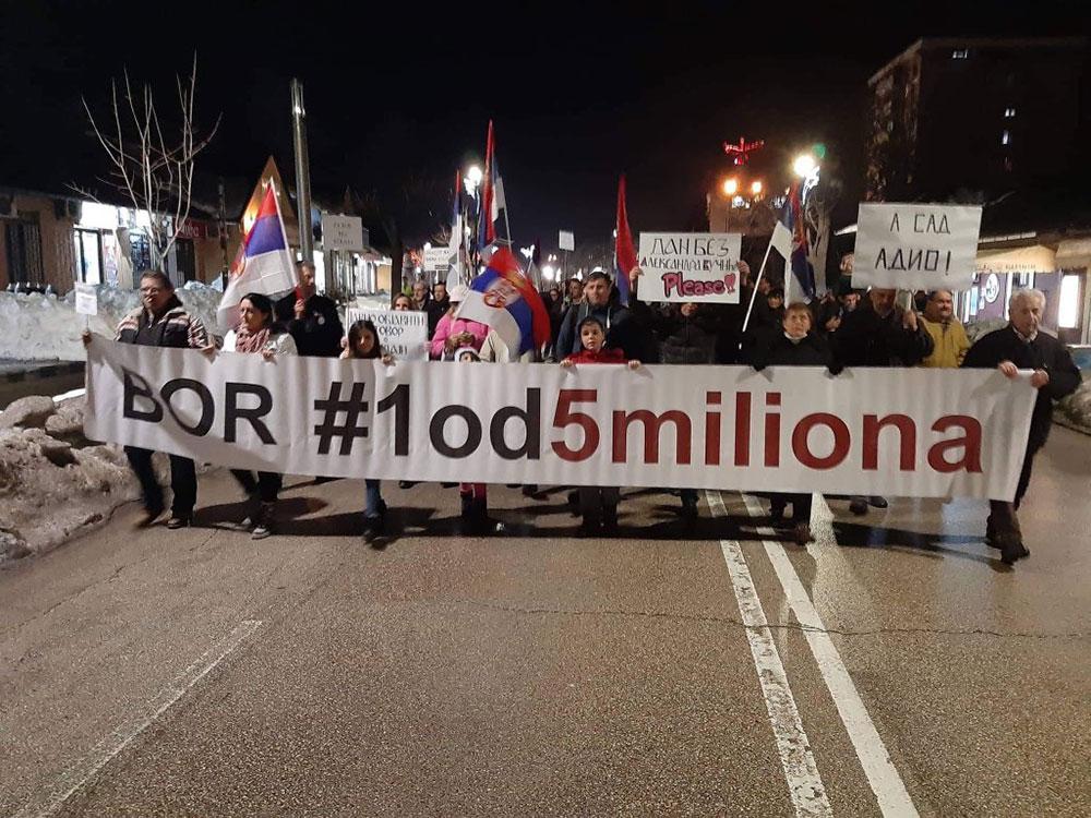protest #1od5miliona u Boru