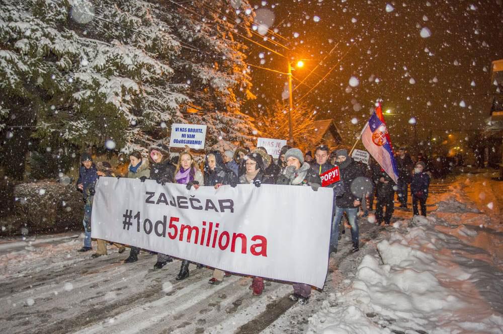 protest #1od5miliona u Zaječaru