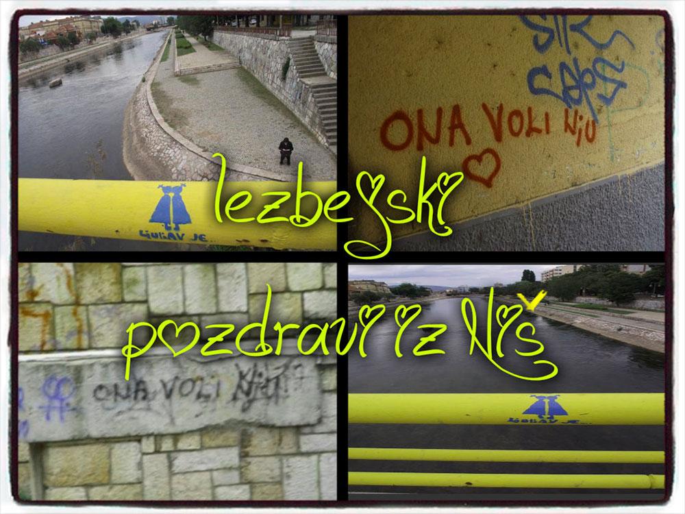 Razglednica Lezbejski pozdrav iz Niš