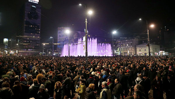Protesti u Beogradu, Slavija