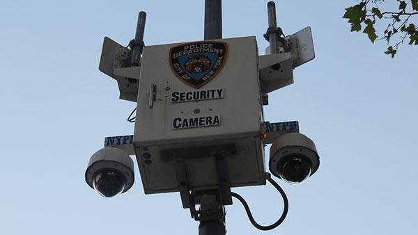 Nadzorna kamera na ulici Njujorka