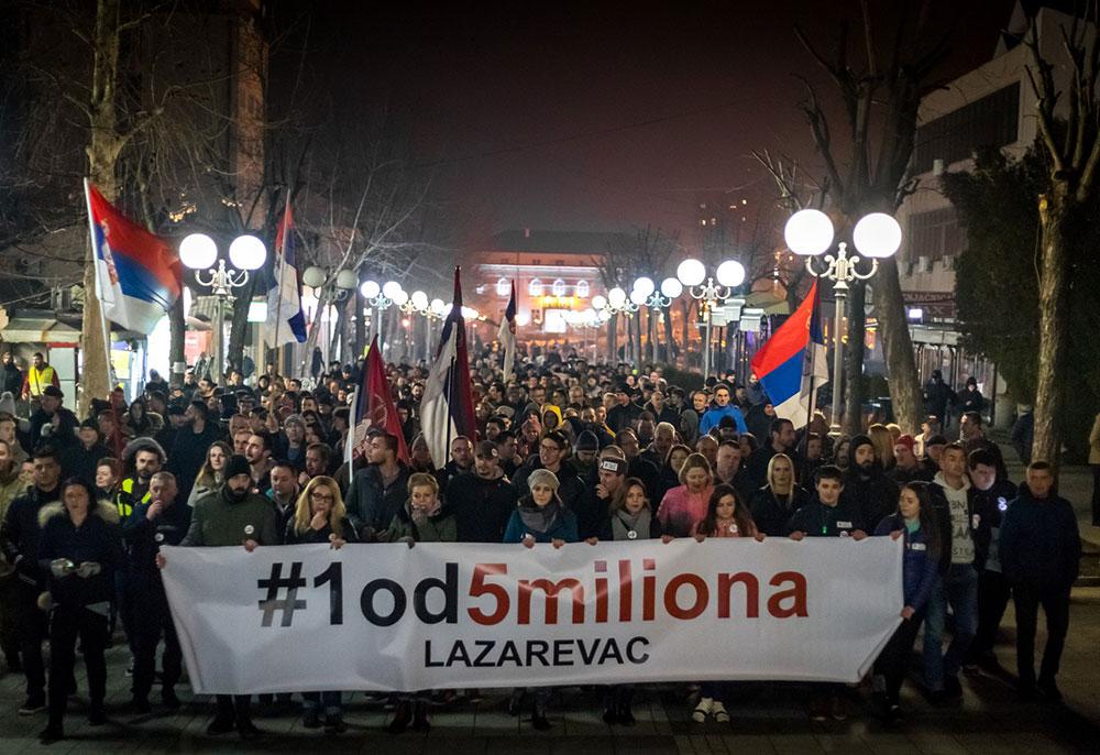 protest #1od5miliona u Lazarevcu