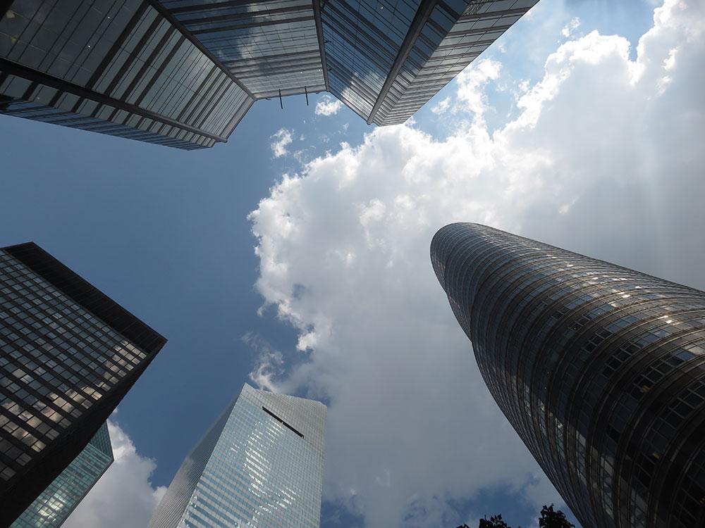 nebo između nebodera