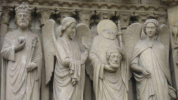 detalj sa crkve Notre-Dame, Pariz