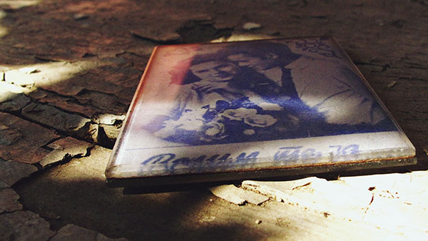 Stara slika sa potpisom Volim te ja