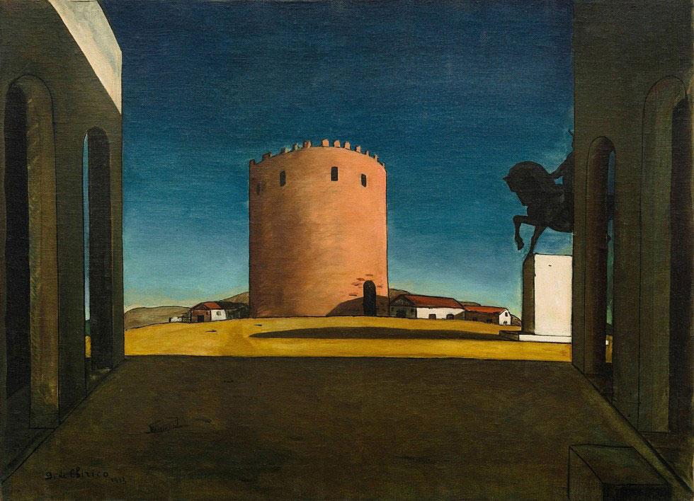 Giorgio de Chirico, Crveni toranj, 1913.
