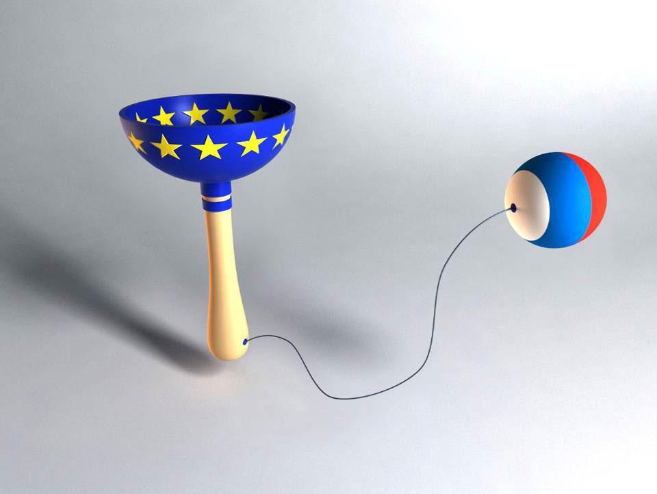 Igračka Ubacite Srbiju u EU, dizajn: Svetlana Ćosić