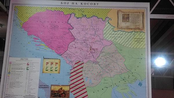 Istorijska karta Boj na Kosovu (1389)