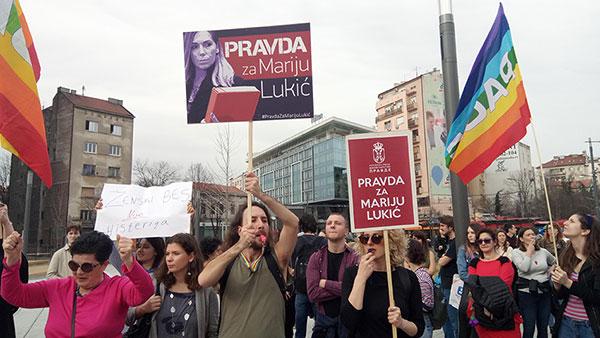 Transparenti: Pravda za Mariju Lukić, Beograd, 8. mart 2019.