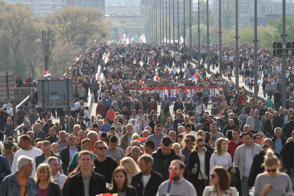 Kontramiting vlasti 19. aprila 2019, foto: Konstantin Novaković