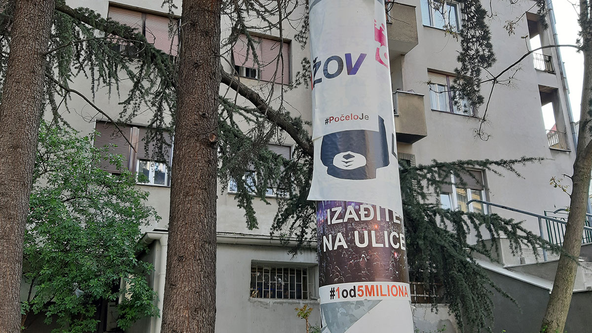 Nalepnice na banderi: Lažov, Izađite na ulicu