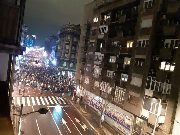 Protesti u Beogradu 22.12.2018.
