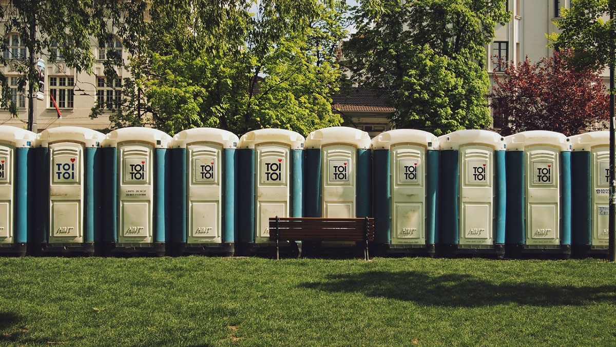 Toi-toi wc-i u Pionirskom parku, Beograd