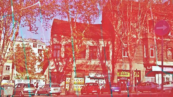 beogradska ulica u crvenoj boji