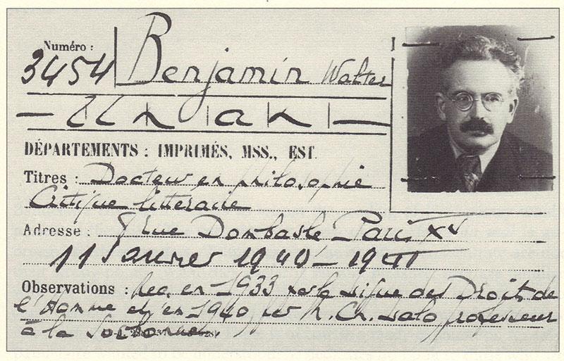 Benjaminova karta za Narodnu bilbioteku u Parizu