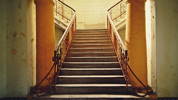 Stepenište u Domu JNA