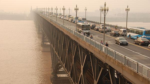 Most na reci Yangtze, Nanjing