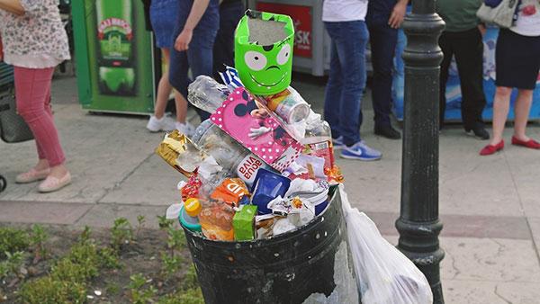 prepuna kanta za smeće