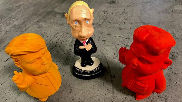 figurice: Tramp, Putin i Kim Džong Il