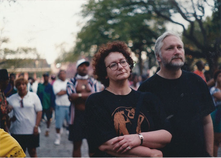 "Slapšakovi na ""indijanskom"" Mardi Grasu, Nju Orlins 1994, foto: Andy Horton"