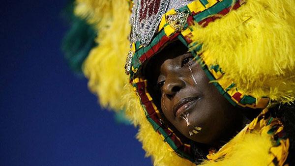 "Velika Kraljica Mardi Gras ""indijanskog"" plemena The Wild Tchoupitoulas, New Orleans 2017"