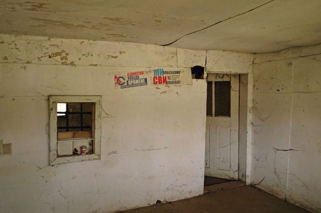 Napuštene prostorije DOS-a, foto: Predrag Trokicić