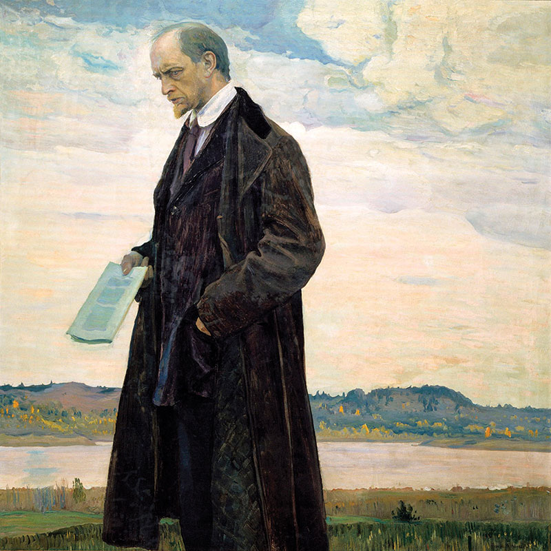 Mihail Nesterov: Mislilac (portret Ivana Iljina), 1921.