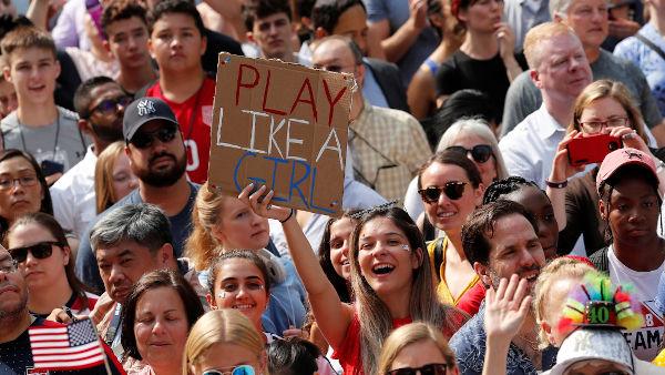 Doček šampionki u Njujorku 10. jula 2019, foto: Mike Segar/Reuters
